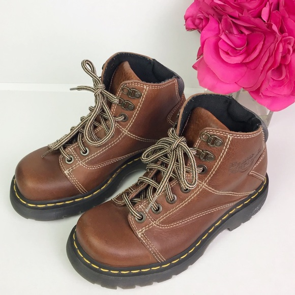 8e24ee7931c Dr. Martens Brown Leather Ankle Boots Size 7